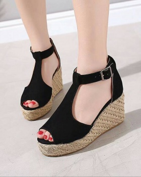 Large yard light hemp rope sandals for women