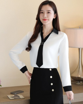 Slim temperament tops spring chiffon shirt for women
