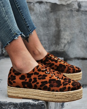 Hemp rope autumn and winter leopard Casual shoes