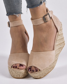 Hemp rope spring large yard retro sandals