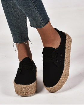 Casual hemp rope large yard shoes