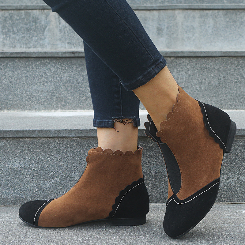 Mixed colors boots shoes for women