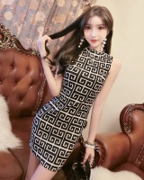 Printing ladies package hip fashion dress for women