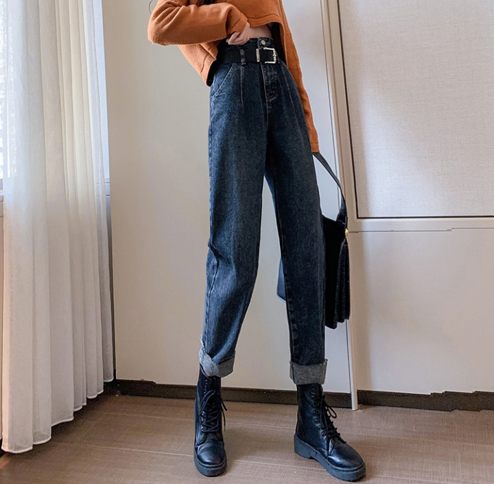 High waist harem pants Korean style jeans for women