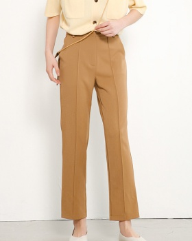 Slim straight nine pants pure simple casual pants