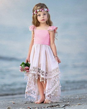 Girl summer baby trailing spring and summer dress