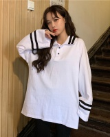 Spring two buckle college style Korean style long sleeve shirt