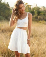 Small lace buckle headgear fashion tops