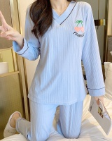 Sweet lovely long sleeve loose cotton pajamas a set for women