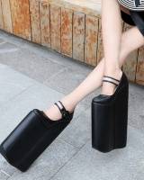 High slipsole thick crust high-heeled shoes