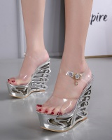 Summer fashion sandals leather buckle platform