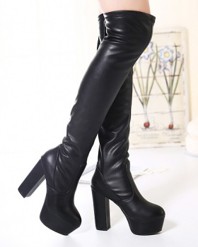 Not plus velvet boots high-heeled thigh boots for women