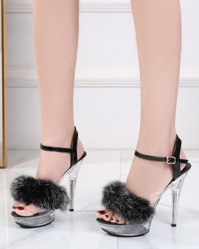 Fine-root summer high-heeled shoes fashion sandals