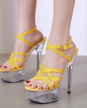 High-heeled not colors shoes transparent wedding shoes for women