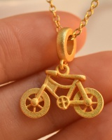 Gold pendant gorgeous creative bicycle accessories