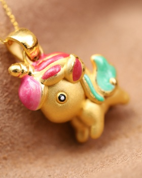Gold pendant rainbow lovely accessories