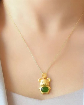 Fat pendant necklace natural gold accessories
