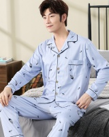 Homewear long sleeve cotton Casual pajamas a set for men