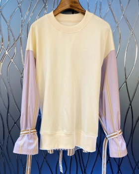 Fashion stripe T-shirt spring and summer tops for women