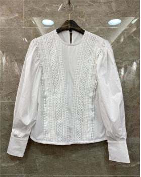 European style temperament tops lace shirt for women