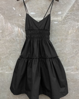 Summer sexy dress pinched waist sling T-back