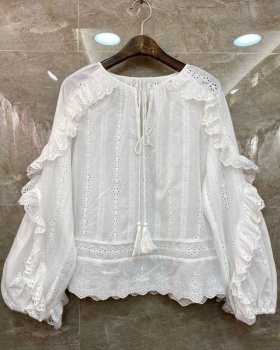 Lady temperament shirt European style tops for women