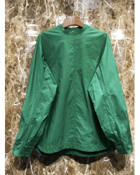 Loose simple tops spring long shirt for women