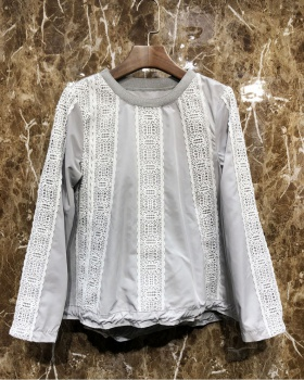 Spring fashion lace hoodie Casual gauze tops