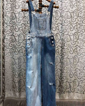 Spring Casual long pants high waist holes jeans