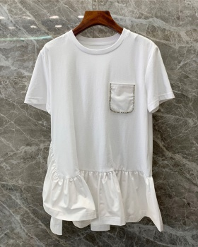 European style T-shirt tops for women