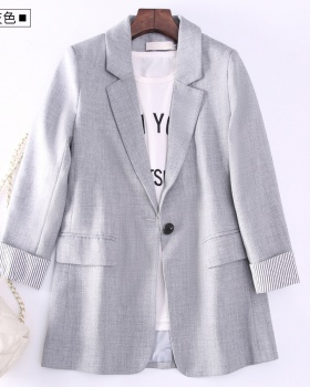 Casual Korean style tops loose thick coat for women