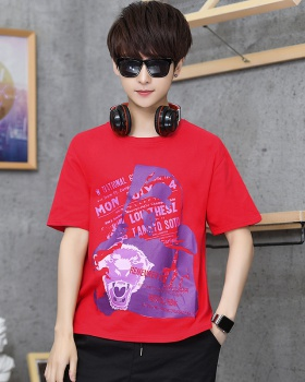 Loose cotton T-shirt short sleeve fashion tops for men