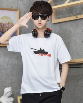 Summer loose T-shirt short sleeve printing tops for men