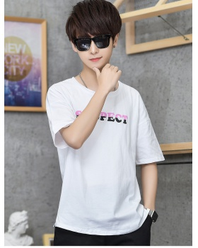 Printing short sleeve loose tops fashion cotton T-shirt