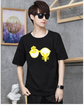 Fashion cotton tops short sleeve printing T-shirt for men
