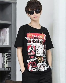 Loose short sleeve T-shirt cotton fashion tops for men