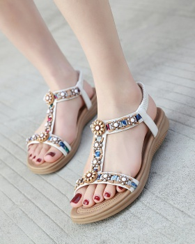 Sandy beach national style cozy sandals for women