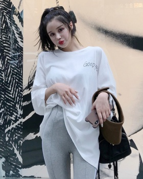 Round neck Korean style T-shirt bottoming tops for women