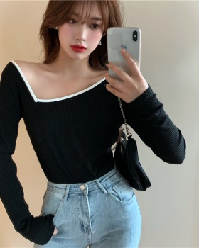 Long sleeve spring T-shirt unique slim shirts