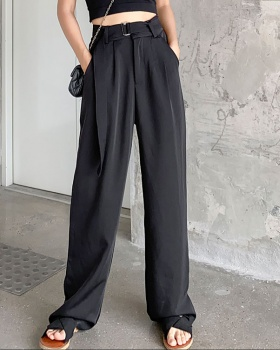 High waist straight pants suit pants mopping long pants