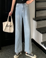 Spring mopping wide leg pants high waist simple jeans