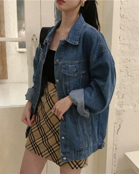 All-match spring coat denim fashion tops