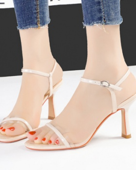 Profession Korean style sandals slim high-heeled shoes