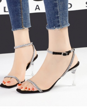 Sexy European style sandals slim high-heeled shoes for women