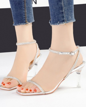 European style sandals high-heeled shoes for women