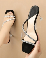 Fashion high-heeled shoes rhinestone sandals for women