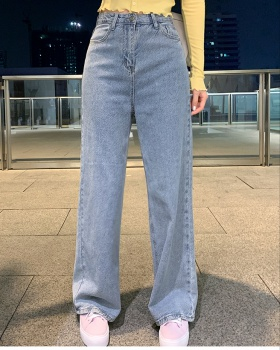 Straight wide leg long pants Casual jeans for women