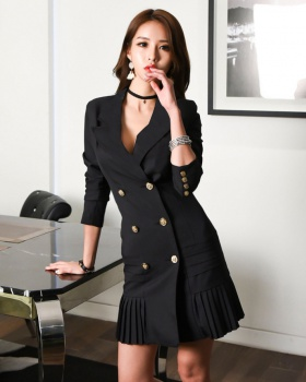 V-neck business suit temperament dress for women