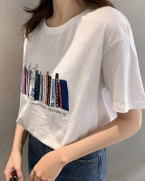 Summer all-match pure cotton T-shirt slim loose tops