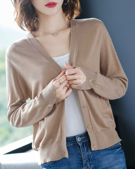 Short sweater spring and autumn jacket for women